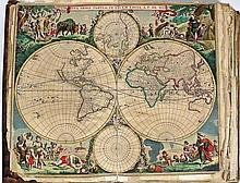 (Atlas, Monde) - Atlas composite renfermant 106 cartes du 17e et 18e siècle