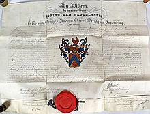 (Belgique, Archivalia, Lettre patente) - Adelbrief ter verlening van de tit