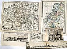 - Belgique et Pays-Bas : 14 cartes, 4 plans, 6 vues topographiques et 1 tit
