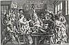 (École flamande) - PONTIUS, Paulus (1603-1658).- Le Roi boit [d'après Jacob, Jacob Jordaens, €800