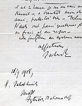 Autographe - SMITS, Jakob.- Lettre autographe sign