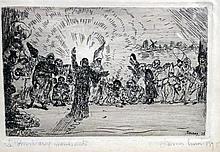 - ENSOR, James (1860-1949).- Le Christ aux mendian