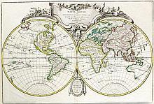 - 6 pièces : mappemonde, 1 frontispice d'atlas, 3