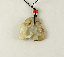 White Jade Carved 2 1/8 $800