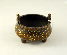 Qing Bronze Incense burner 5cm x 3.5cm