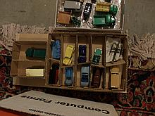Box lot of 12 Dinky Toy cars