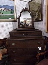 5 Drawer highboy dresser with vanity topper