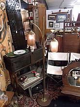 Mid century double Pendant Floor Lamp