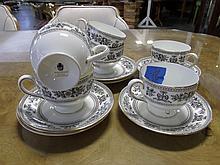 Wedgwood bone china black Columbia 12 pc. Tea set