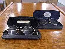 Pair of 19th c eyeglasses Bausch brand