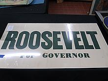 1966 Roosevelt For NYS Governor Banner!