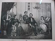 General Grant and His Family Rare JOS Hoover Lithograph