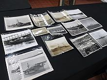 12 Naval Photos and a Naval Magazine with Warships