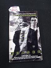 Arnold S., George Clooney, Steve Guttenberg Autographed Eraser Book