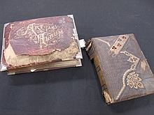 Lot of 2 Victorian Photo Albums