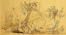 KAZAR VASILE ( 1913-1998 ) Co?mar/ Nightmare