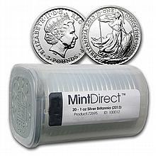 2013 Silver Britannia (20-Coin MintDirect® Tube)