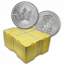 2014 Silver Canadian Maple Leaf 500-Coin Monster Box (Sealed)