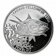 2014 1 oz Silver Tokelau $5 Yellowfin Tuna (7/8)