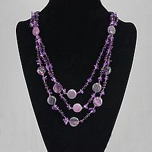 Fashion Jewelry Agate Multi Glass Bead Necklace 81.20 grams