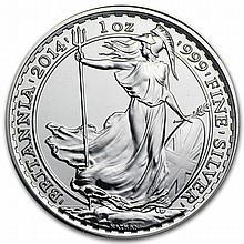 2014 1 oz Silver Britannia (Brilliant Uncirculated)