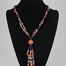 Fashion Jewelry Multi Glass Bead Necklace 67.20 grams