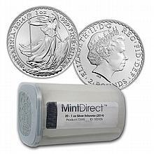 2014 Silver Britannia (20-Coin MintDirect® Tube)