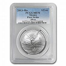 2013 1/2 oz Silver Libertad MS-70 PCGS (FS) - Registry Set