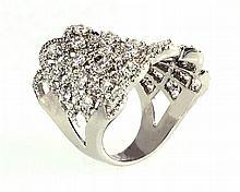 18kw Diamond Ring 2.94ct, G/SI1