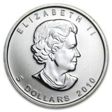 2010 1 oz Silver Canadian Maple Leaf (Brilliant Uncirculated)