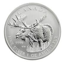 2012 1 oz Silver Canadian Wildlife Series - Moose