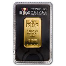 Fine Gold Bar 1 oz - Republic Metals Corporation (In Assay)