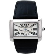 Pre-owned Cartier Stainless Steel Tank Divan - #256A7Z