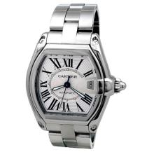 Pre-owned Mens Cartier Large Stainless Steel Roadster - #443N7Y