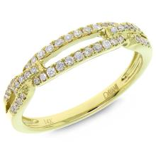 Natural 0.23ct Diamond Lady's Ring 14K Yellow Gold - Ref#-51n2w