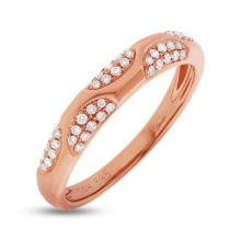 Natural 0.21ct Diamond Lady's Ring 14K Rose Gold - Ref#-56k2m