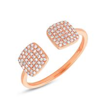 Natural 0.25ct Diamond Lady's Ring 14K Rose Gold - Ref#-48k2m