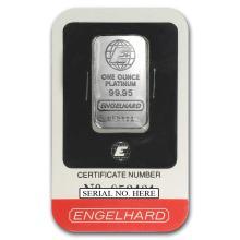 Fine Platinum Bar - 1 oz - Engelhard (In Assay)
