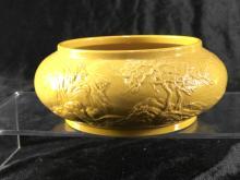 Yellow glazed brush wash with landscape design