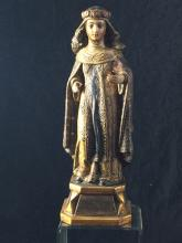 Timber statue of Saint Rosa of Lima