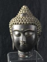 Buddha  head with a soothing expression