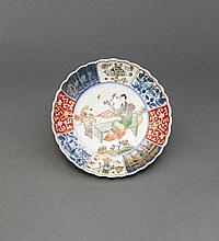 Qing. A Wu Cai 'Beauty And Child' Dish