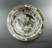 Late Qing-A Wu Cai Figure Bowl