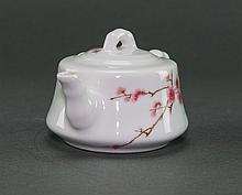 Mid 20th Century. Huai Ren Tang Year 1962. Under Glaze Famille Rose 'Bamboo And Plum Blossom' TeaPot
