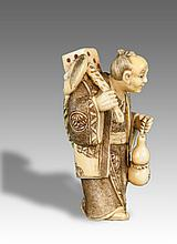 Late Qing/Republic-Japan-An Ivory Figure Netsuke