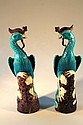 A pair of 20thC Chinese moulded figures of Phoenix