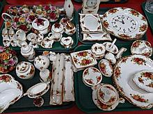 Various Royal Albert Old Country Roses ornaments,