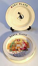 A W & R Carltonware child's plate, polychrome dec