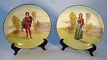 A pair of Royal Doulton seriesware plates, Romeo