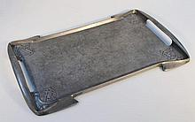 A Tudric pewter Art Nouveau tray, with stylized